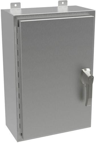 wall-mount enclosure / rectangular / stainless steel / lockable