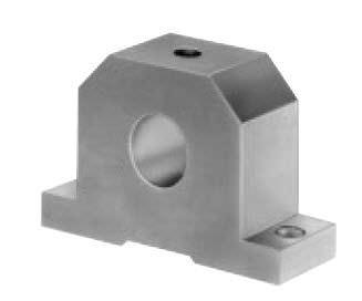 shaft end support / precision / aluminum