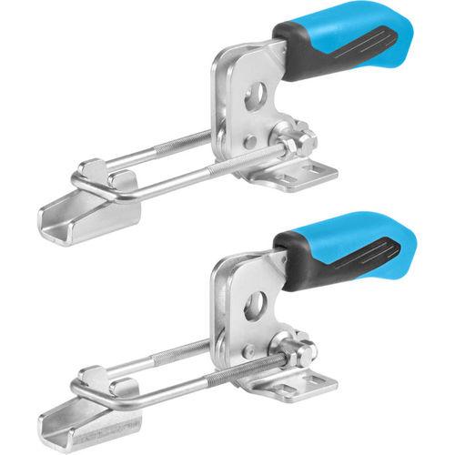 horizontal acting toggle clamp / hook / ergonomic