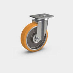 swivel caster / base plate / ball bearing / heavy-duty