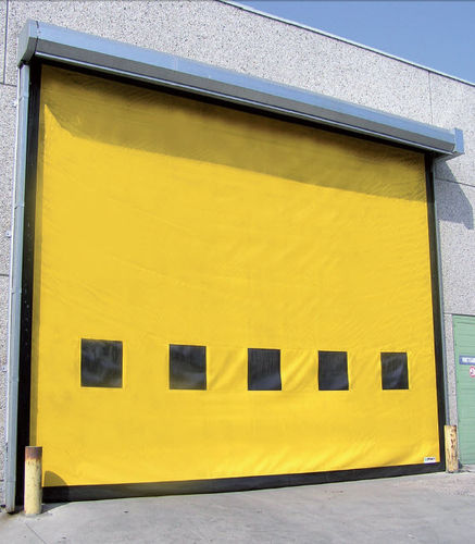 roll-up door / exterior / industrial / wind-proof