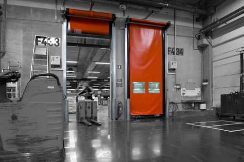 roll-up door / industrial / indoor / high-speed