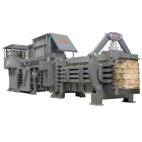 horizontal baling press / channel / for cardboard boxes / for plastics
