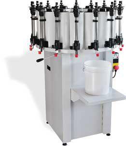 paint dosing dispenser / piston / weight / manual