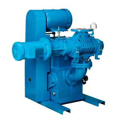 vacuum unit with piston pump / with booster / industrial / compact