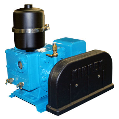 rotary piston vacuum pump / lubricated / two-stage / air-cooled