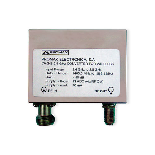 Frequency converter / down / CAN CV-245 PROMAX ELECTRONICA