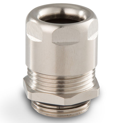 nickel-plated brass cable gland / IP68 / for railway applications