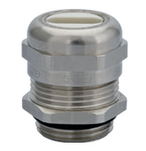 nickel-plated brass cable gland / explosion-proof / for flat cables
