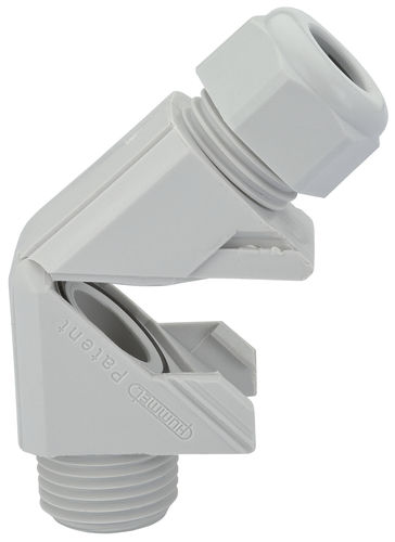 nylon cable gland / IP68 / elbow / threaded