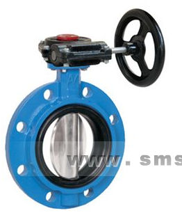 butterfly valve / manual / for beverages / flange