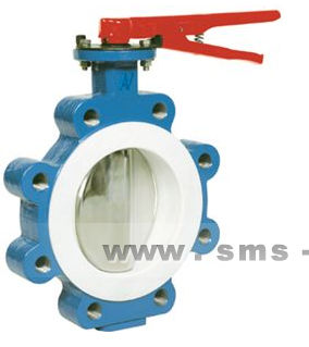 butterfly valve / lever / for liquid food products and beverages / lug type