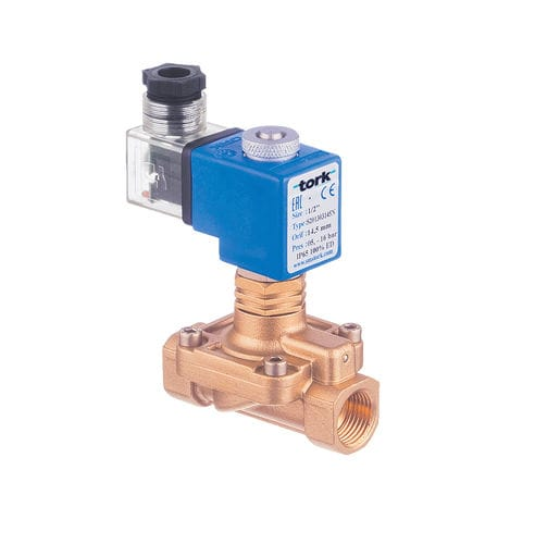 pilot-operated solenoid valve / 2-way / for steam / high-pressure