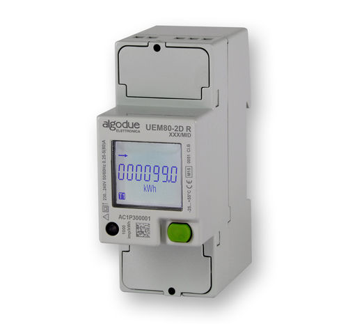 Single-phase electric energy meter / DIN rail / with built-in communication / MID certified UEM80-2D Algodue Elettronica