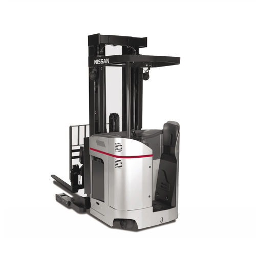 Stand-on reach truck / electrical / handling / for industrial applications Platinum SRX series Nissan Forklift