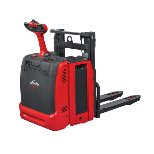 Electric stacker truck / walk-behind / transport / order-picking D12 – D14, D12 HP Linde Material Handling