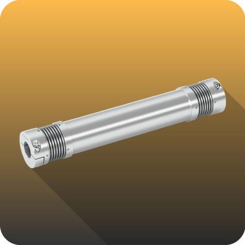 torsionally rigid coupling / bellows / for shafts / transmission