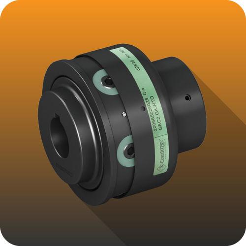 elastic coupling / steel / compact / flange