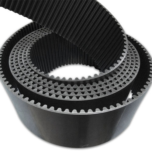 toothed transmission belt / polyurethane / for heavy-duty applications / high-performance