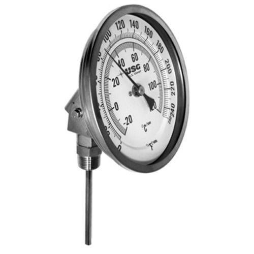 bimetallic thermometer / analog / insertion / stainless steel