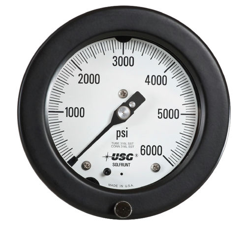 analog pressure gauge / Bourdon tube / process / for vacuum