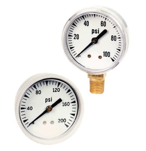 Pressure gauge / Bourdon tube / dial / process / chemical-resistant 590 AMETEK U.S. GAUGE