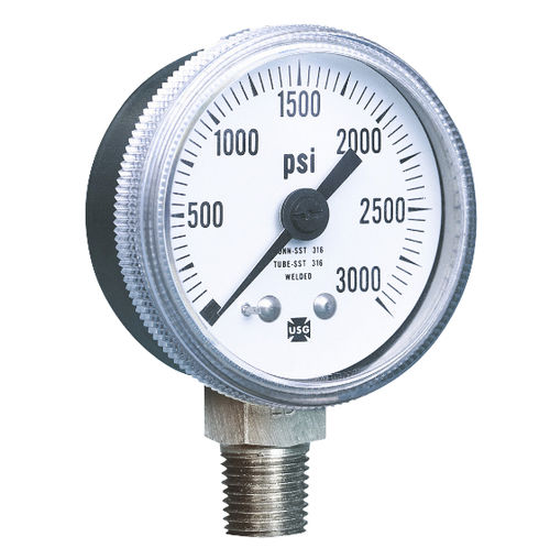 analog pressure gauge / Bourdon tube / process / for air