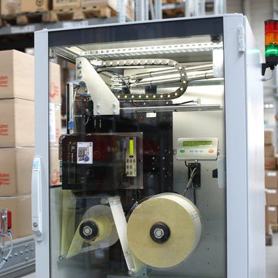 thermal transfer label printer-applicator / monochrome / for labels / double-sided