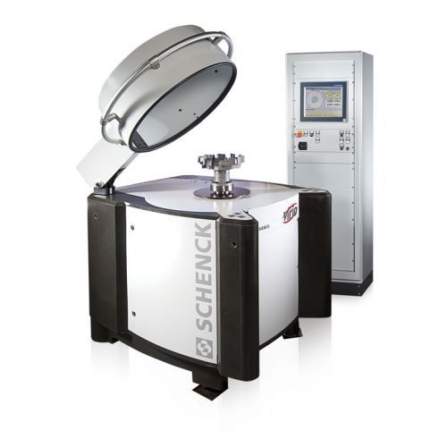 vertical balancing machine / dynamic / for brake discs / for shafts