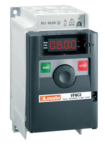 Vector control AC drive / vertical / compact VFNC3 series LOVATO ELECTRIC