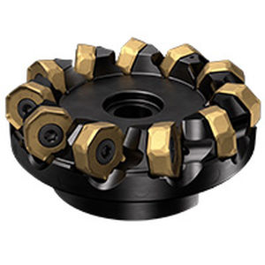 shell-end milling cutter / indexable insert / roughing / face
