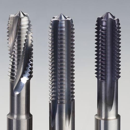 monobloc tap / carbide / for hardened steel