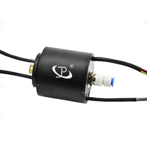 electric slip ring / gigabit Ethernet / capsule / hollow-shaft
