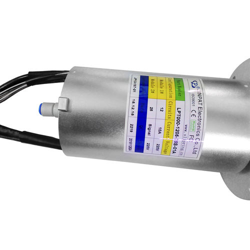 solid-shaft slip ring / for industrial applications / anodized aluminum / IP54