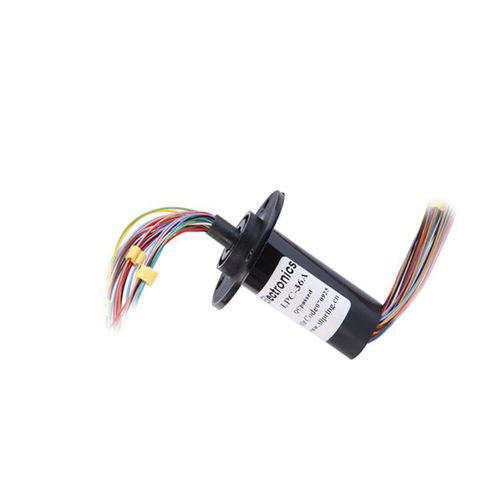 capsule slip ring / for military applications / for rotary tables / multi-channel