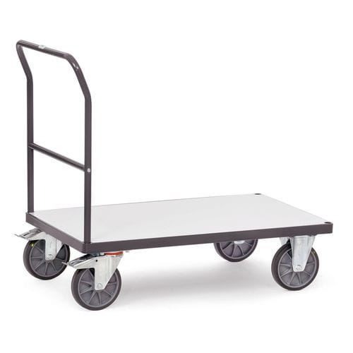 transport cart / steel / platform / with swivel casters