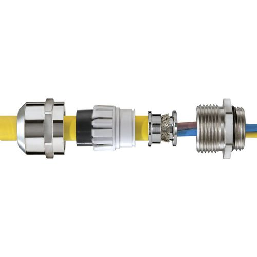 Cable gland for railway applications / stainless steel / IP68 / IP69 ESSKV EMV-Z RW series WISKA