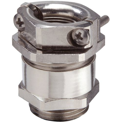 Nickel-plated brass cable gland / IP54 / strain relief / hexagonal ESKMKV series WISKA Hoppmann GmbH