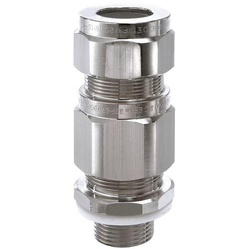 Armored cable cable gland / nickel-plated brass / IP66 / IP67 WEID.E1XF series WISKA