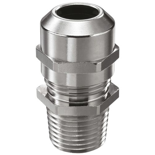 Nickel-plated brass cable gland / IP68 / straight / threaded NMSKV series WISKA