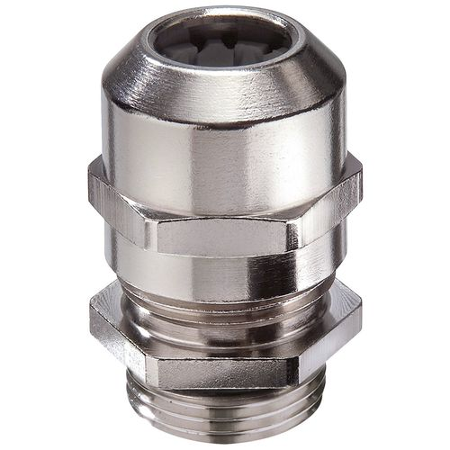 Nickel-plated brass cable gland / IP68 / IP69 / straight PMSKV series WISKA