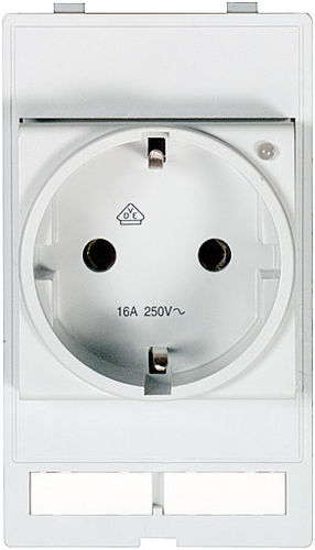 panel-mounted electrical socket / built-in