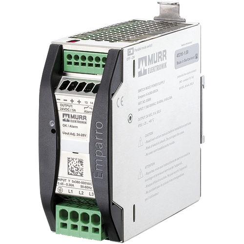AC/DC power supply / DIN rail / three-phase / switching