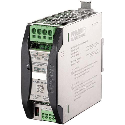 DIN rail-mounted DC power supply buffer module