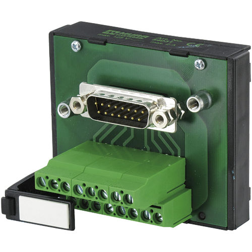 data connector / D-sub / male / screw-locked