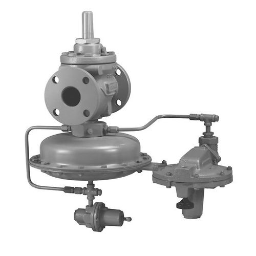 gas pressure regulator / single-stage / membrane / pilote-operated