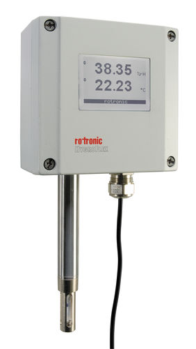 Relative humidity transmitter / wall-mount / for process applications / with temperature measurement HygroFlex7 - HF7 ROTRONIC AG