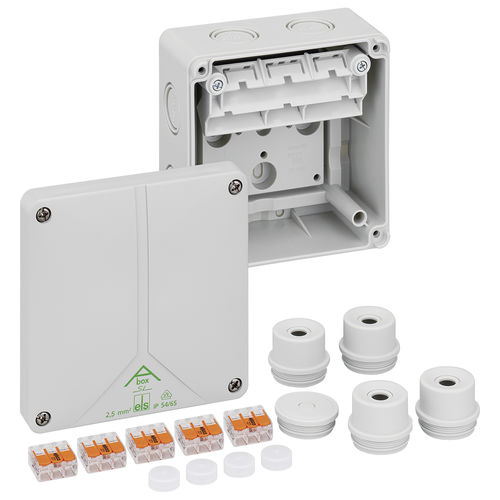 wall-mounted junction box / IP65 / polystyrene / with knockouts