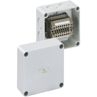 wall-mount enclosure / rectangular / polycarbonate / screw cover