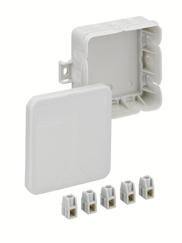 wall-mounted junction box / IP20 / polypropylene / with knockouts